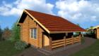 Проект гостевых домиков из оцилиндрованного бревна для агроусадьбы