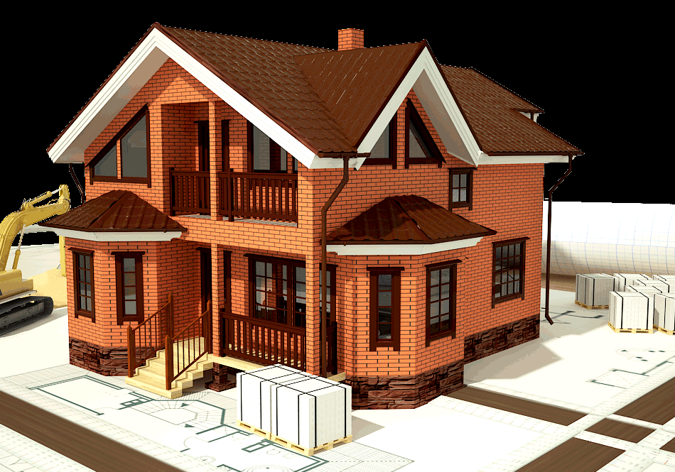 Архитектурный проект кирпичного дома